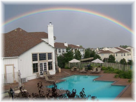 Rainbow in Colorado Springs (photo by Carole Musser)