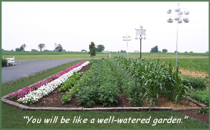 Well-watered garden