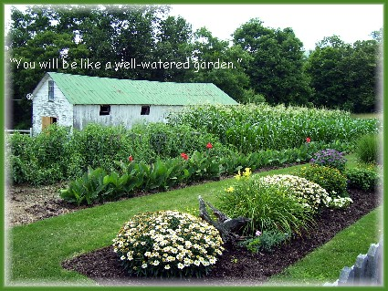 A well-watered garden in Perry County PA Click to enlarge)