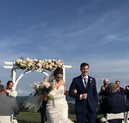 Joe and Taylor, newly married 8/17/19