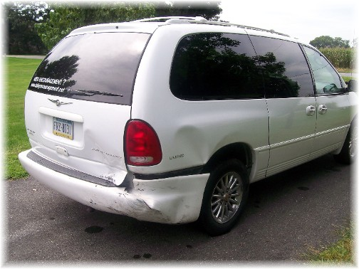 Van accident damage