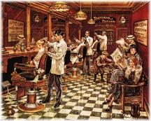 Old-fashioned barber shop