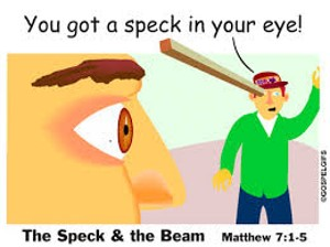 Beam in eye