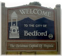 Bedford Virginia sign