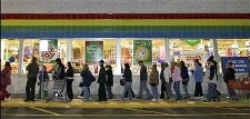 Line on black Friday