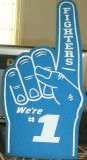 "Foam hand sign ""We're #1"""
