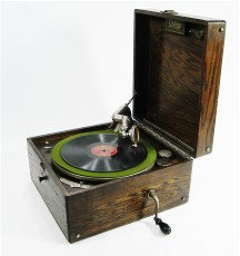 Hank crank record player