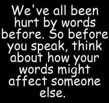 Hurting words