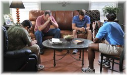 "Men praying in ""Courageous"""
