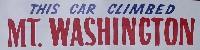 Mount Washington bumper sticker