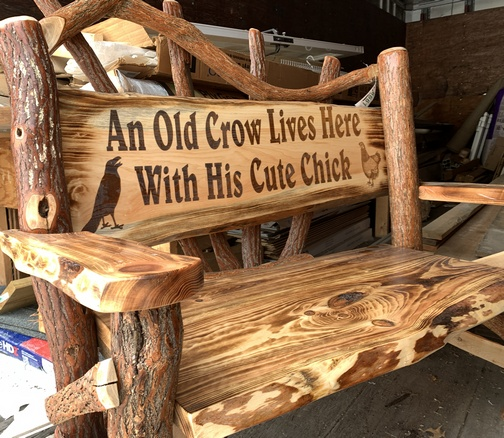 Old Crow bench in Kleen-Rite truck