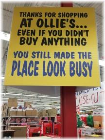 Ollie's sign