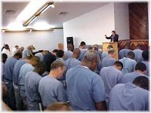 Prison chapel service