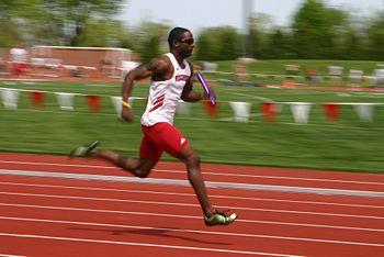 Relay race runner
