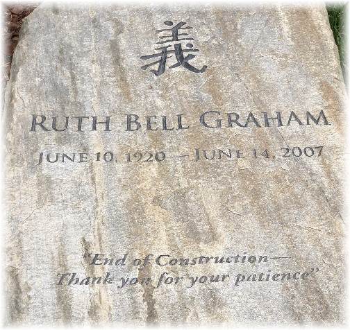 Ruth Bell Graham tombstone 3/19/18