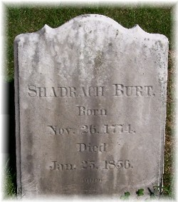 Shadrach tombstone