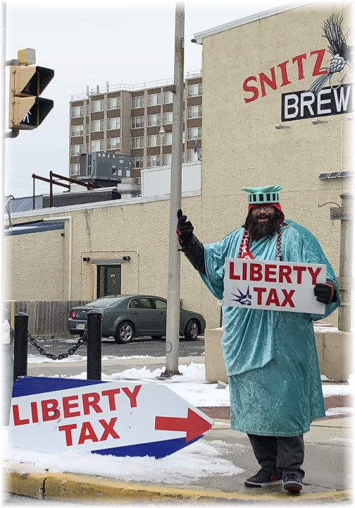 Statue of Liberty tax man 2/6/18 Lebanon, PA