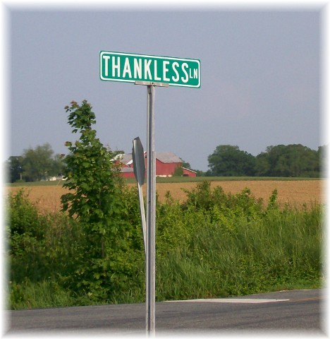 Thankless lane in Rising Sun, Maryland