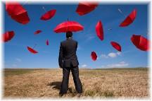 Traveller's umbrellas