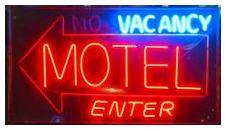 Motel vacancy sign