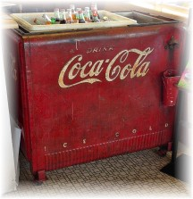 Vintage soft drink dispenser