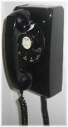 Black wall phone