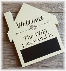 WiFi password plaque