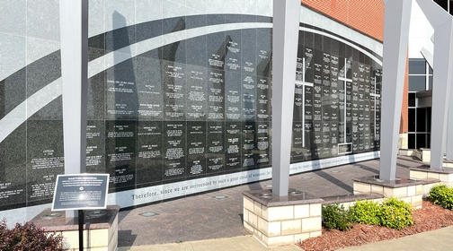 Voice of Martyrs wall