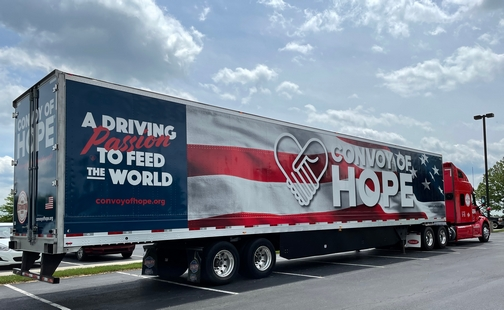 """""""Convoy Of Hope"""" truck"""