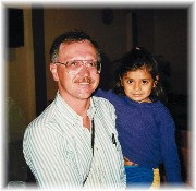 Jack Mansfield with Columbian child Fusagasuga mission trip 1991