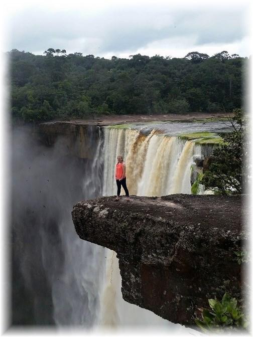 Hannah at Kaieteur Falls, Guyana