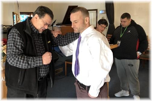 Teen Challenge prayer service 1/7/18