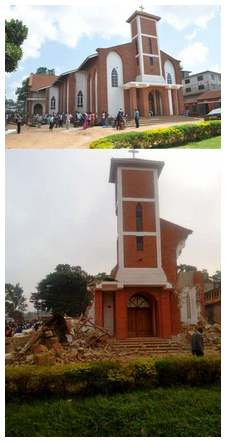 Ugandan church (before and after)