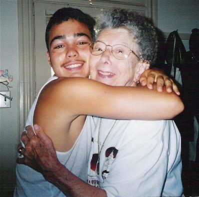 Mom hugging Joey Cullen