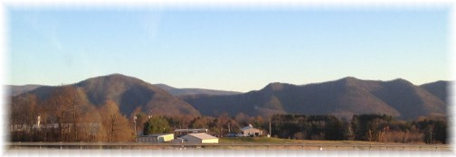 Blue Ridge mountains from along I-81