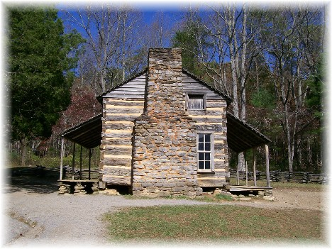 Cabin in Cades Cove in Smoky Mountain National Park 10/28/10