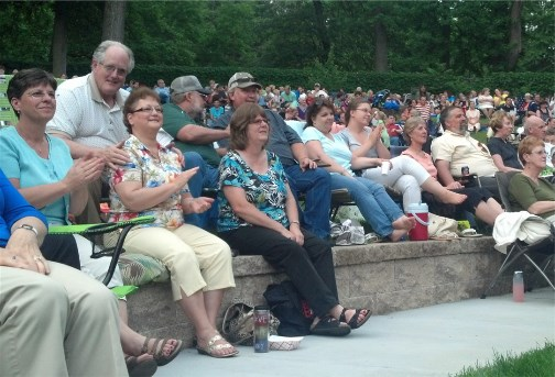 Church group at Booth Brothers concert 6/10/13