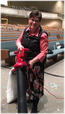 """Brooksyne cleaning after """"Rend Collective"""" concert 4-29-18"""