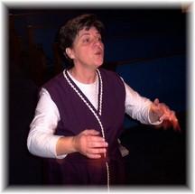 Brooksyne directing choir