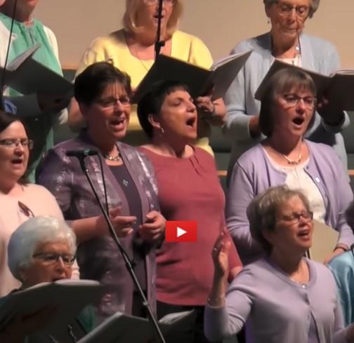 Brooksyne with Calvary Church choir