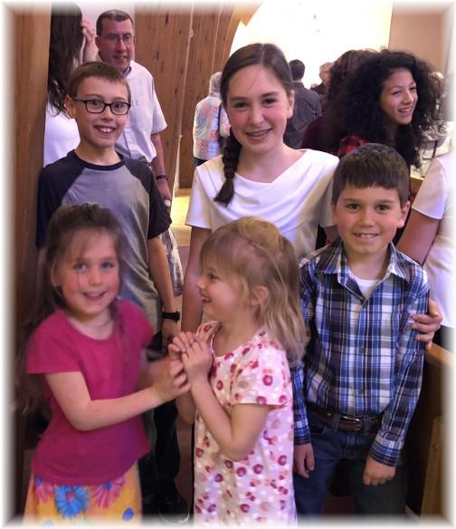 Children at choir concert 4/29/18