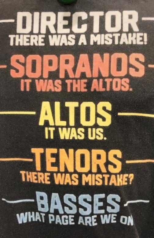 Choir mistakes t-shirt