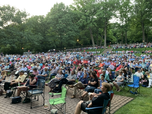 Crowd at Collingsworth family at Music In The Park, Lebanon, PA 6/23/19