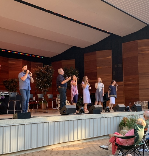 Collingsworth family at Music In The Park, Lebanon, PA 6/23/19