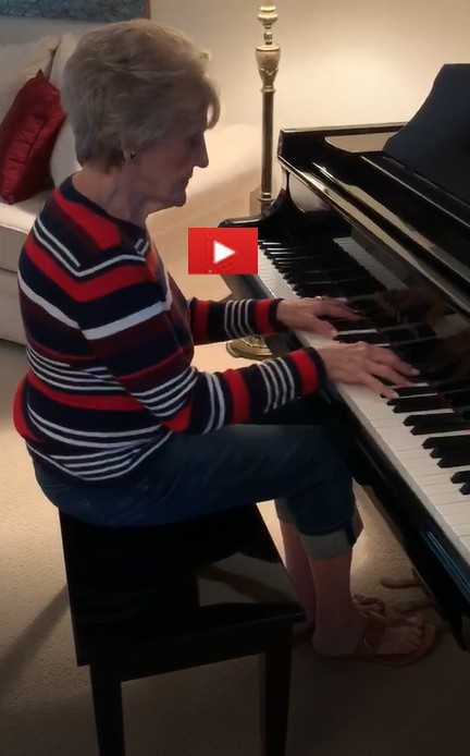 Elnora Dresselhaus playing Tis So Sweet To Trust In Jesus