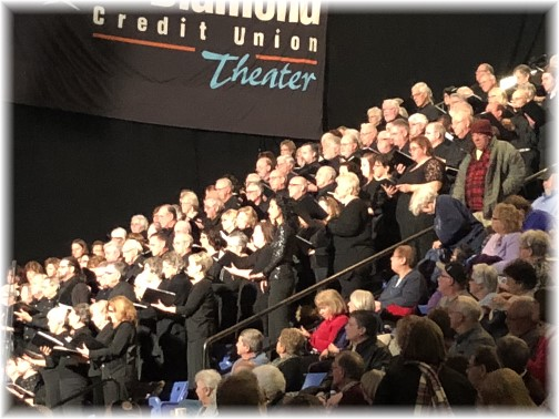 Choir at Gaither homecoming concert, Reading, PA 12/9/17 (Click to enlarge)