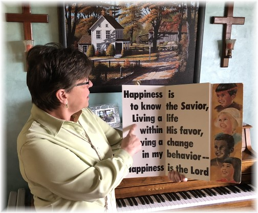 """""""Happiness is the know the Savior"""" book"""