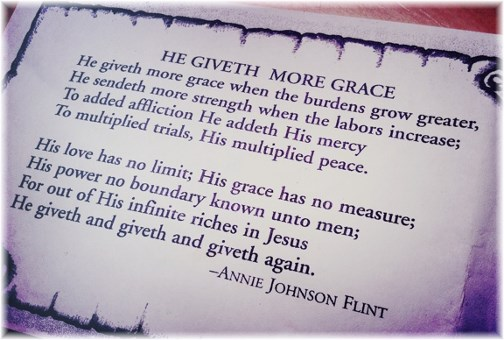 He Giveth More Grace