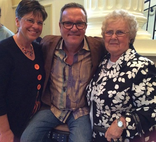 Mark Lowry with Brooksyne and Fran Book