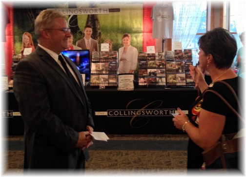 Brooksyne visiting with Phil Collingsworth 8/7/14